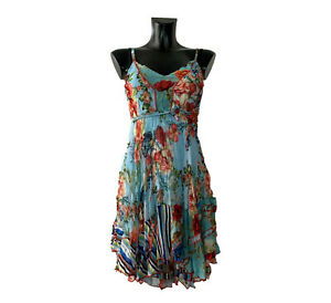 SENSATIONS N4 Made in France Damen Sommerkleid Minikleid Trägerkleid Gr. 34-40
