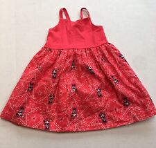 New Baby Gap Disney Red Minnie Mouse Cotton Sun Dress 4T 4 Years
