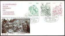 Vatican City Sc# 715-17: Gregorian Calendar on FDC