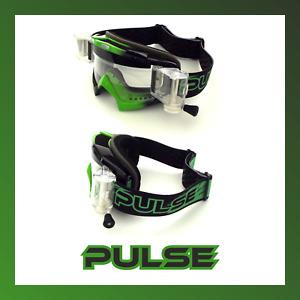 PULSE GREEN ASSASSIN MOTOCROSS MX ENDURO BMX MTB GOGGLES + 5 ROLL OFF FILMS