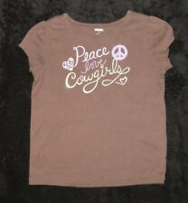 Gymboree Cowgirls at Heart Peach Love Brown Top Shirt Size 7