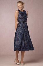 NWT $260 BHLDN Anthropologie Hitherto Adela Navy Lace Dress Size 6