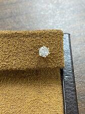 Single .45 CT Natural Round Brilliant Cut Diamond 14K Yellow Gold Stud Earring