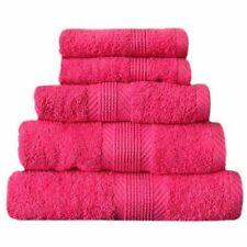 Serviettes, draps et gants de salle de bain rose 100x150 cm