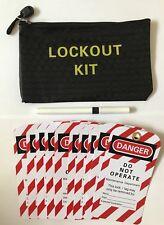 Lockout/ Lock Off Danger Tags, Lockout Kit Bag & Dry Wipe Berol Pen.