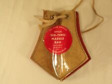 Vintage Lee Products Wisconsin Marble Pouch / Bag With Draw Strings See Thru