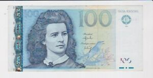 ESTONIA BANK 100 KROONI  BANKNOTE SUPERB CONDITION