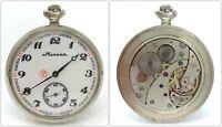 Orologio Molnija da tasca pocket watch russo cccp clock caliber 3602 mechanical
