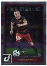 2016 Donruss Soccer Production Line #35 Andres Iniesta FC Barcelona