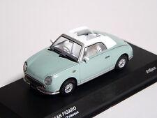 ## Nissan FIGARO 1:43 1/43 DieCast Model Opened Pale Aqua Kyosho NEW, RARE ##