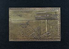 Rosh Hanikza Israel Intricate Embossed Metal Art Piece Ready For Framing