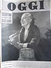 OGGI n°38 1952 Wanda Osiris - Sciortino tradito come Giuliano[C78]