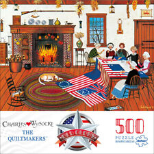 Buffalo Games Charles Wysocki Old Glory The Quiltmakers 500 Piece Jigsaw Puzzle