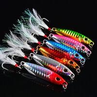 6pc Lead Fishing Lure 10g 15g 20g 30g 40g 50g Jigging Saltwater Metal Bass Baits