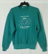 Vintage 90s Girl Scouts Pullover Crewneck Teal Sweatshirt Long Sleeve Medium