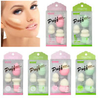 3PCS Powder Puff Sponge Beauty Egg Face Smooth Flawless Foundation Makeup Puff