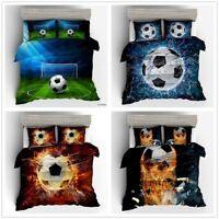 3D Football Kids Bedding Set Soccer Sport Duvet Cover Pillowcase Comforter Cover