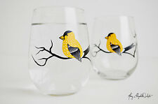 Finch Stemless Wine Glasses - Set of 2 Stemless Wine Glasses