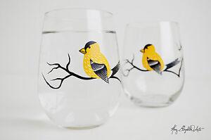 Finch Stemless Wine Glasses - Set of 2 Stemless Wine Glasses