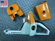 Stihl 066 MS660 complete fuel gas tank 1122 350 0817 w/ covers and gas cap