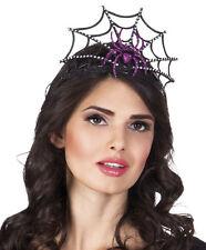 Halloween Tiara Spinnen Krone NEU - Karneval Fasching Hut Mütze Kopfbedeckung