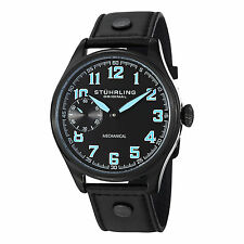 Stuhrling Original Men's 457.335551 Aviator Mechanical Hand Wind Leather Watch