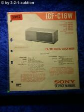 Sony Service Manual ICF C16W Clock Radio (#3952)