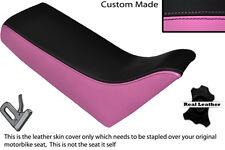 Negro & Rosa Personalizado Fits Yamaha Pw 80 50 doble de piel cubierta de asiento solamente