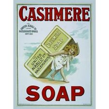 Cashmere Soap, Bathroom & Showeroom, Hotel, Vintage, Old, Small Metal Tin Sign