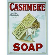 Cashmere Soap, Bathroom & Showeroom, Hotel, Vintage, Old, Small Metal/Tin Sign