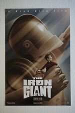 Sdcc 2015 The Iron Giant 13x20 Poster Brad Bird Wb Exclusive