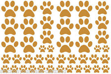 CARAMEL TAN PAW PRINTS-2 sheets total 44 piece VINYL WALL DECAL STICKER DOG CAT