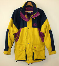 Helly Hansen Vintage Retro Ski Jacket Yellow and Purple Helly-Tech Mens Medium