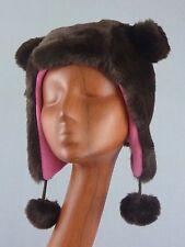 Youth Kids Faux Fur Winter Hat Cap Hoodie / Bear / Brown / Lined / Old Navy