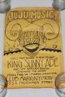 """1983 Juju Music From Nigeria to New Orleans King Sunny Ade Poster 17"""" x 11"""""""