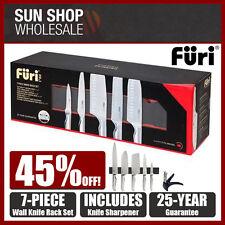 100% Genuine! FURI Pro 7 Piece Wall Knife Rack Set w/ Knife Sharpener! RRP $549!