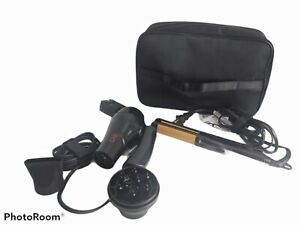 CHI Compact Travel Set 3-in-1 Hairstyling Iron and Dryer, Zip Bag Black