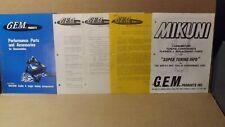 1976 G.E.M Snowmobile Performance Parts & Accessories Catalog Mikuni Carburetors