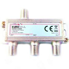 Sat F-Splitter 3fach Antennenverteiler DVBS DVBT DVBC silber Signal Verteiler