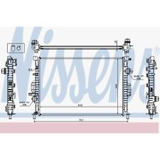 Kühler Motorkühlung - Nissens 65615A
