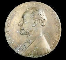 Grand médaillon hommage à Sadi Carnot Président Jules Chaplain sculpteur 20 cm
