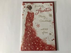 For A Lovely Auntie Merry Christmas Card By Write From The Heart Grass Roots