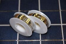 100' Solar Cell Bus Wire with Solder Already on the Wire Made in USA NOT CHINESE