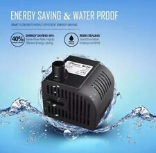 SONGJOY 52 GPH Submersible Water Pump Aquarium Fish Tank Fountain Pump with 1.5M