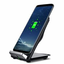 Wireless Qi Fast Charger Holder Desk Top Stand Mount For Mobile Phone Sat Nav