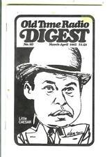 OLD TIME RADIO DIGEST #50, 1992,  rare uS digest mag Robinson, Little Caesar