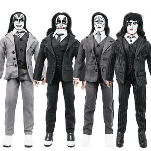 KISS 12 Inch Action Figures Dressed To Kill Re-Issue Series: Set of all 4 [Loose