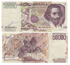 BANCONOTA Lire 50.000 Bernini 2° TIPO D.M. 16-10-1995 Discreta Conservazione