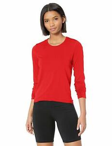 ASICS Womens Tactic Court Long Sleeve, Red, 2XL