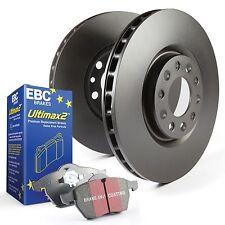 EBC Trasero Discos De Freno Y Almohadillas Ultimax Kit Para Ford Fiesta Mk7 1.6 ST180